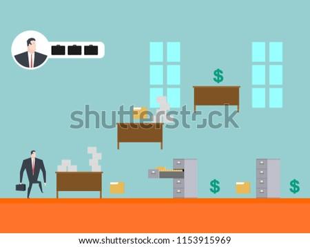 Iş oyun oynamak işadamı ofis kart Stok fotoğraf © MaryValery