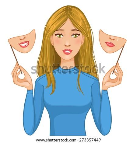 femme · anxiété · personnelles · défier · bleu - photo stock © stevanovicigor