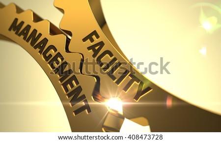 Team Management Concept. Golden Metallic Cogwheels. Stock photo © tashatuvango