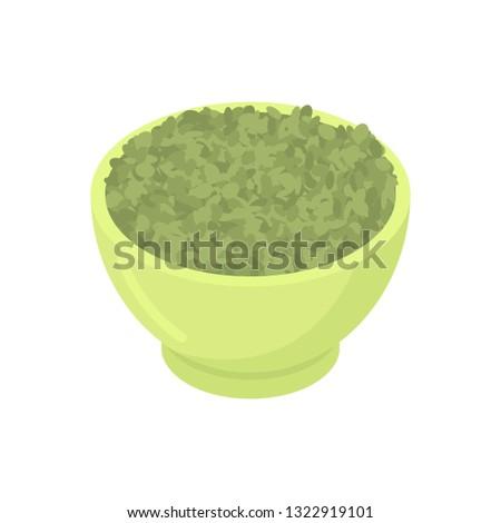 Tigela verde isolado alimentação saudável café da manhã Foto stock © MaryValery