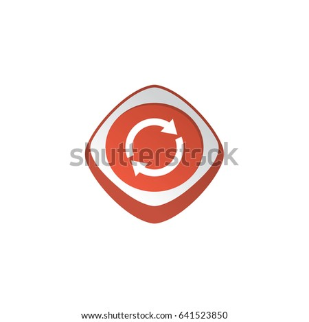 restart refresh glossy color app icon button game asset theme vector Stock photo © vector1st