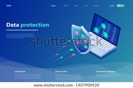 Privacy Data protection and Internet VPN shield Security Concept stock photo © taufik_al_amin