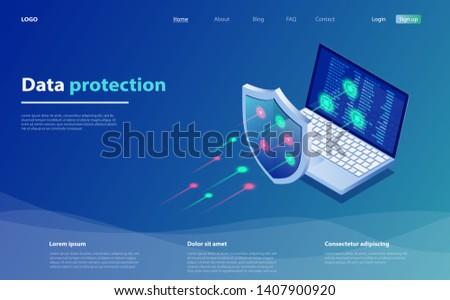 privacy · internet · scudo · sicurezza · line - foto d'archivio © taufik_al_amin