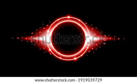 orange red and black futuristic shiny sphere vector illustration stock photo © cidepix