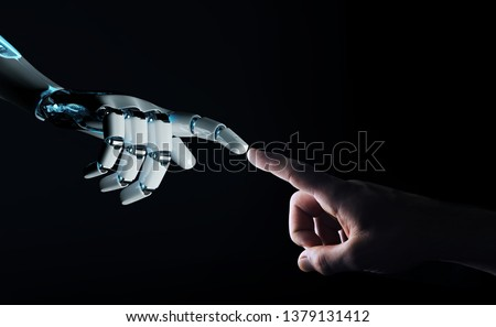 Cognitive computing concept as future technology with businessma Stock photo © Elnur