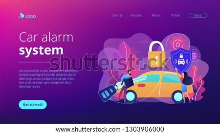 Samochodu alarm lądowanie strona biznesmen zdalnego Zdjęcia stock © RAStudio