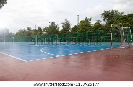 voetbal · voetbal · bal · veld · Blauw · opleiding - stockfoto © matimix