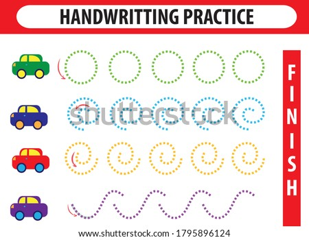 Educational printable games for the development of fine motor sk Stock photo © anastasiya_popov