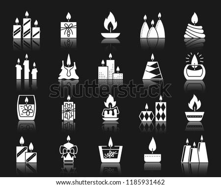 Velas establecer vector vidrio jar Navidad Foto stock © pikepicture