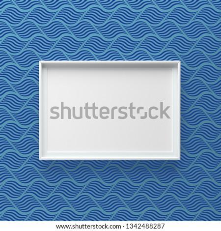 Elegante marco de imagen pie pared oscuro patrón de onda Foto stock © adamr