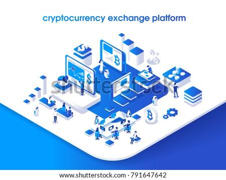 Vektor Austausch Technologie Geld Stock foto © TarikVision
