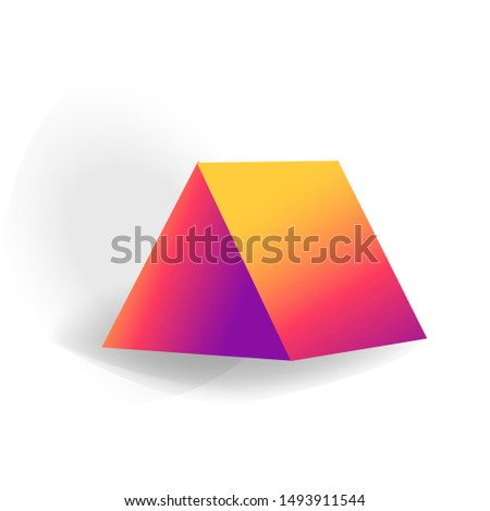 Pryzmat jeden 3D geometryczny Zdjęcia stock © MarySan