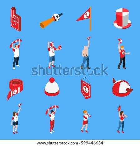 horn attribute football soccer and sports fans vector illustrati Stock photo © konturvid