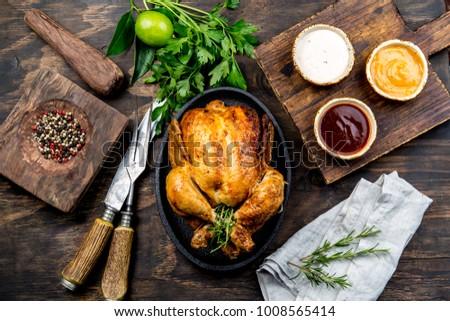 Tutto pollo legno verde Foto d'archivio © Illia