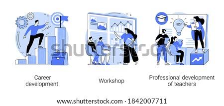 Professionele ontwikkeling leerkrachten kwalificatie vaardigheden Stockfoto © RAStudio