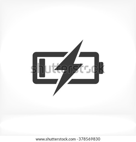 Battery Charging icon with lightning. technology interface. Phone ui. Stock Vector illustration isol Stock photo © kyryloff