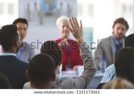 Hátsó nézet jólöltözött üzletasszony kéz kaukázusi nő Stock fotó © wavebreak_media
