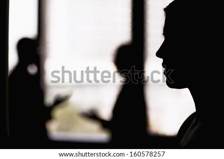 Oldalnézet félvér üzletasszony kéz üzlet előadás Stock fotó © wavebreak_media