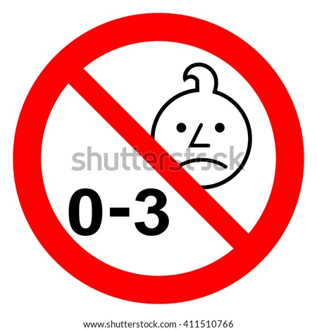 Not suitable for children under 3 years ban sign, warning symbol, Stock Vector illustration isolated Stock photo © kyryloff