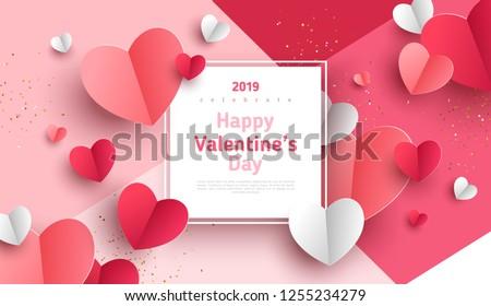 Valentin nap vásár promóció szalag sablon terv Stock fotó © SArts