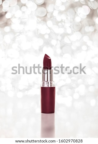 Chocolate lipstick on silver Christmas, New Years and Valentines Stock photo © Anneleven