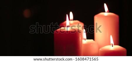 Aromatischen orange floral Kerzen Set Nacht Stock foto © Anneleven
