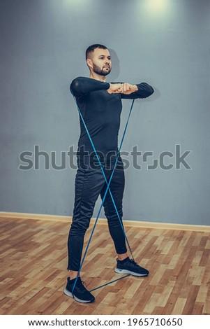 Pionowy sportowiec treningu pętla zespołu odporność Zdjęcia stock © benzoix