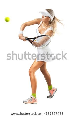 Atléta játszik tenisz fehér illusztráció nő Stock fotó © bluering
