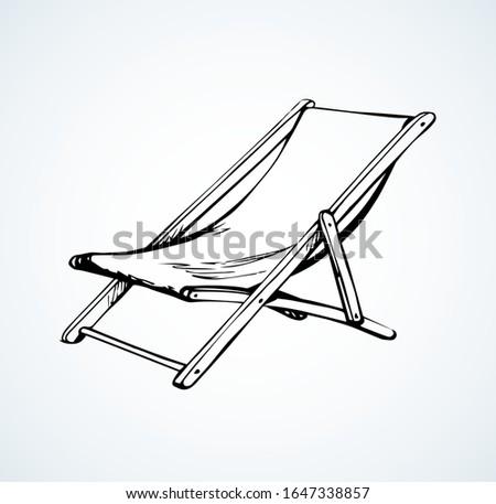 Espreguiçadeira desenho convés cadeira esboço Foto stock © Terriana
