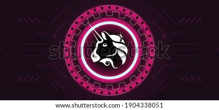 Futuristic crypto colorful blockchain illustration. Vector global creative social network. Abstract  Stock photo © karetniy
