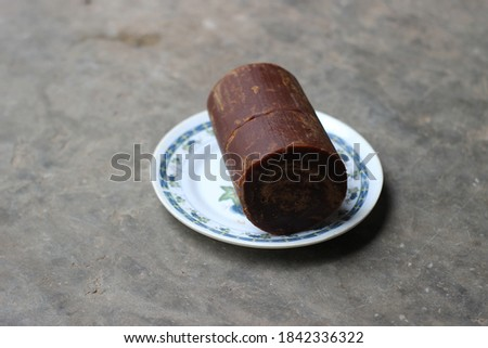 üveg tál tányér természetes barna kockacukor Stock fotó © DenisMArt