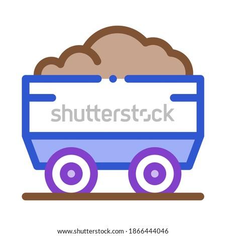 Ciężki ciężarówka materiału ikona wektora cienki Zdjęcia stock © pikepicture
