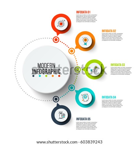 Vector infographics ontwerpsjabloon cirkel communie Stockfoto © ukasz_hampel