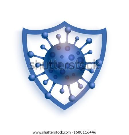 Wirusa ochrony tarcza koronawirus medycznych Zdjęcia stock © SArts