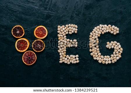 продовольствие письма ломтик цитрусовые форме Сток-фото © vkstudio