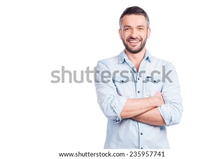 Dojrzały mężczyzna stałego broni fabryki produkcji jednostka Zdjęcia stock © boggy