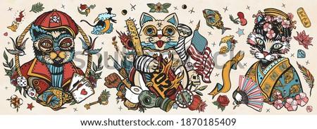 Japonya karikatür karalamalar örnek coronavirüs Stok fotoğraf © balabolka