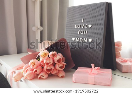 I Love you mom sign Stock photo © bluering