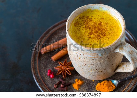 Turmeric golden milk with spices Stock photo © furmanphoto