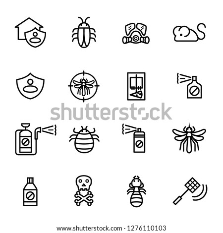 Crossed Mosquito Icon Vector Outline Illustration Stock photo © pikepicture