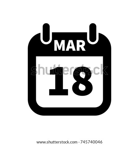 Eenvoudige zwarte kalender icon 18 datum Stockfoto © evgeny89