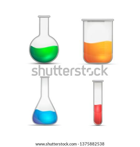 Conjunto realista químico experimental substância Foto stock © evgeny89