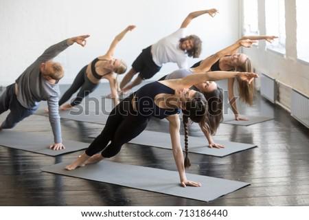 Woman doing Ashtanga Vinyasa yoga Stock photo © dmitry_rukhlenko