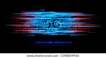 5g fifth generation mobile technology concept background design Stock photo © SArts