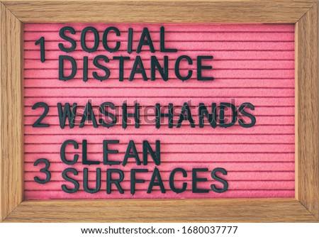 Hand sanitizer billboard sign for COVID-19 coronavirus prevention - proper measures to keep clean ha Stock photo © Maridav
