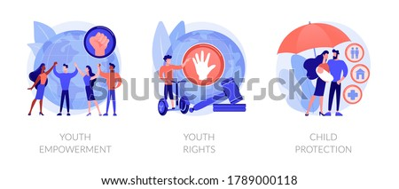 Young people rights protection abstract concept vector illustrations. Stock photo © RAStudio