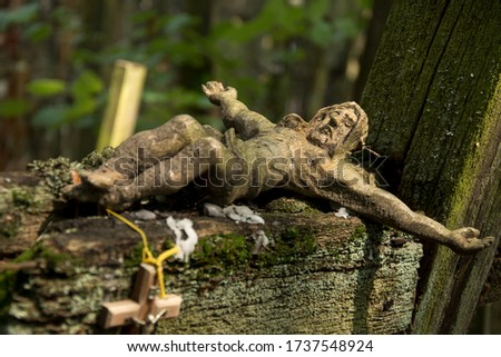 old wooden christ Stock photo © smithore