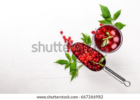 Red wine, redcurrant Stock photo © ChrisJung