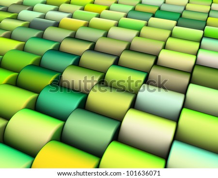 Streszczenie 3d wielokrotność zielone żółty cylinder Zdjęcia stock © Melvin07