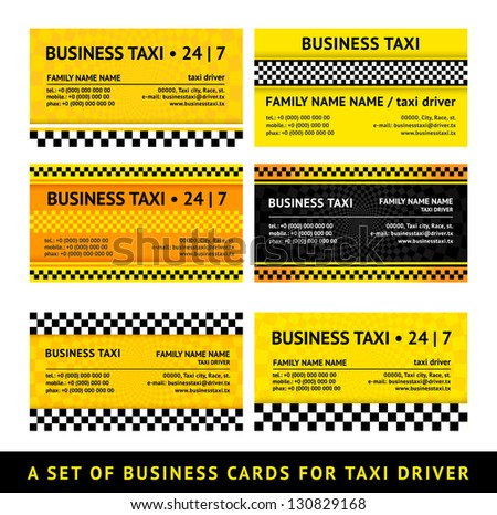 Business card taxi - seventh set stock photo © Ecelop